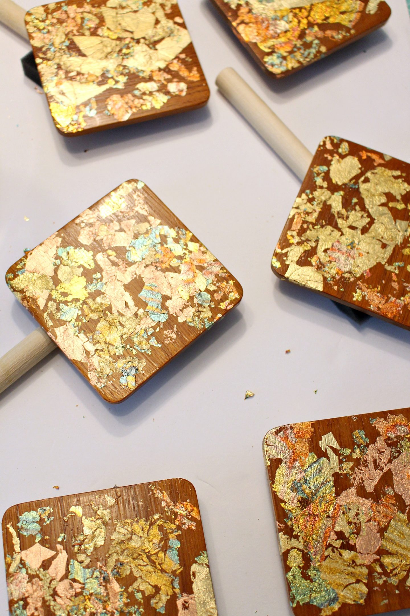 How to Mod Podge Gold Leaf