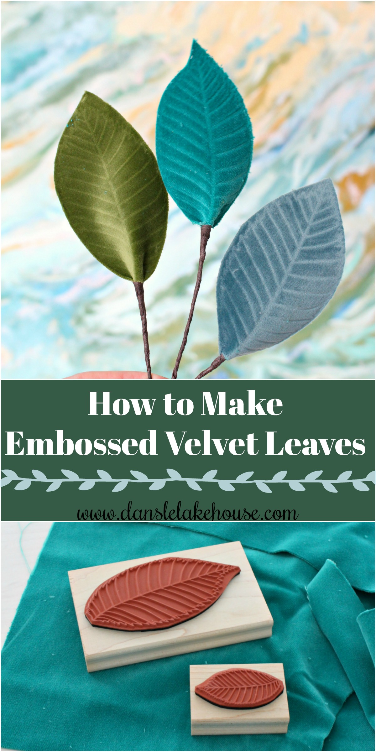 DIY Boho Wreath with DIY Embossed Velvet Leaves