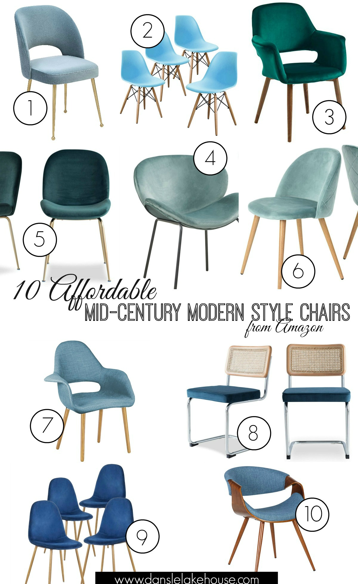 New Grey Velvet Dining Chairs + 10 Affordable Mid-Century Modern Inspired Dining Chairs