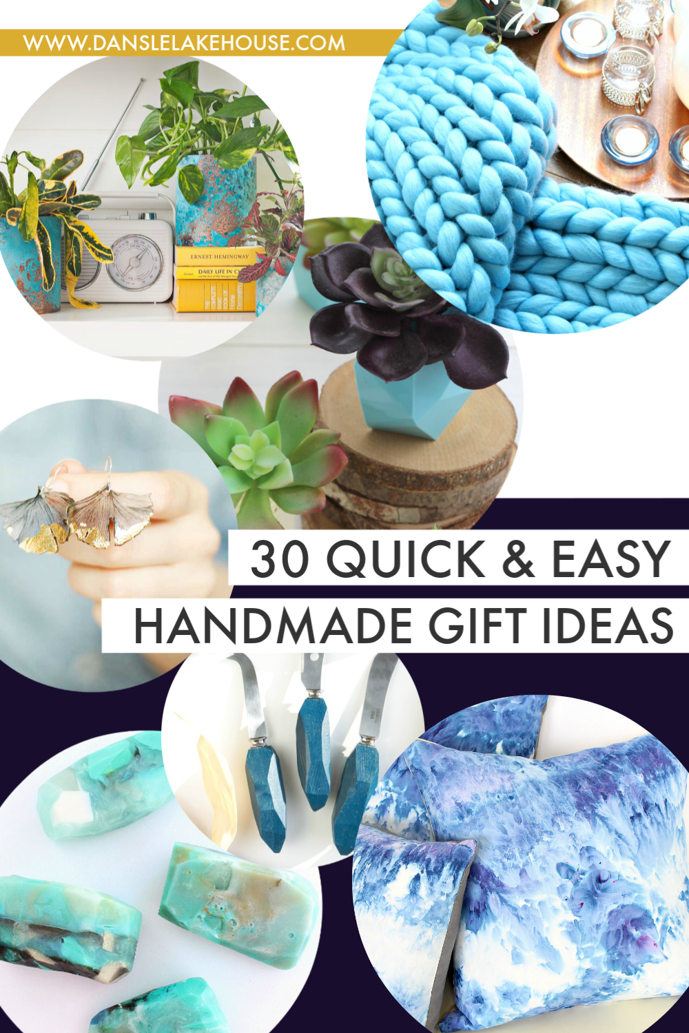 30 Beautiful and Modern, Quick and Easy Handmade Gift Ideas | Dans le Lakehouse | #handmadegift #ditgift #giftguide #giftideas #diy