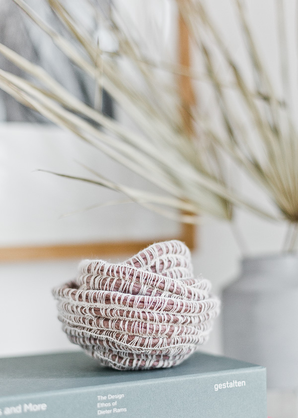 DIY Woven Rope Bowls | 15 Stylish DIY Projects for Organizing Your Home #organizing #diy #diyhome #clutterbustingtips