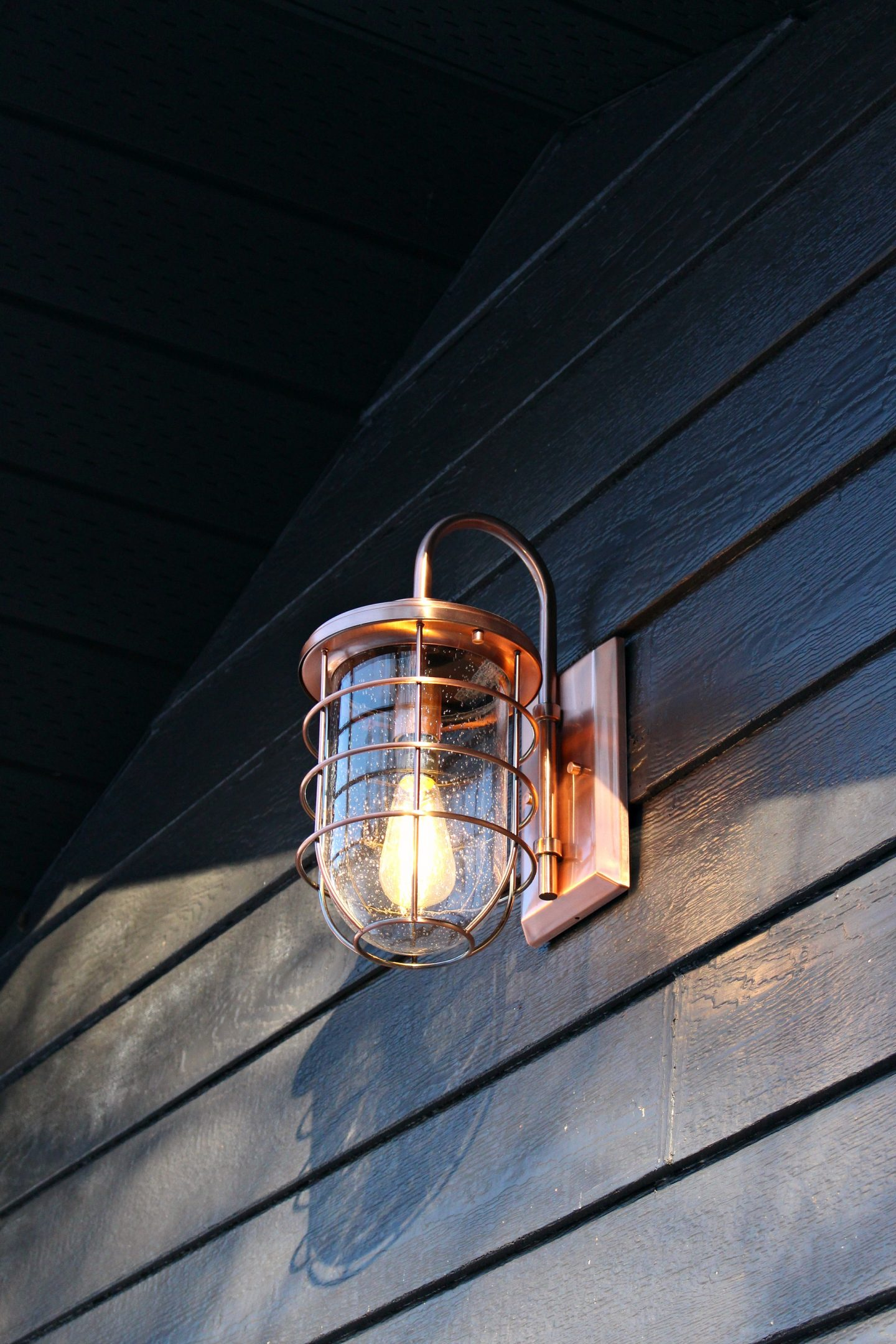 New Copper Ferry Lights | Garage Makeover Before & After