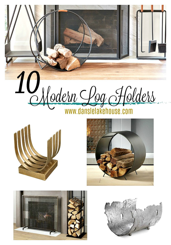 10 Modern Log Holders Dans Le Lakehouse