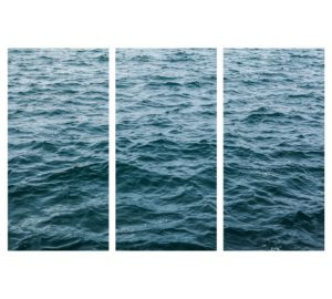WAVES TRIPTYCH COASTAL ART