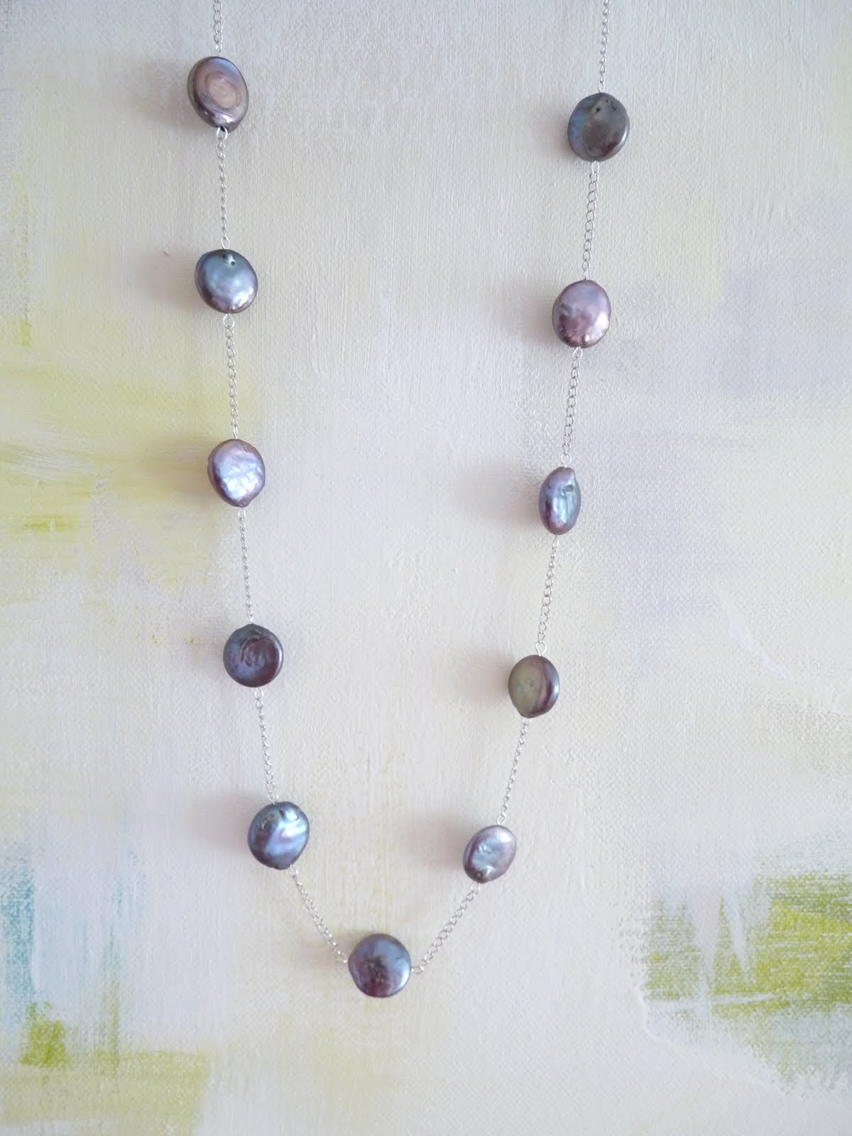 DIY COIN PEAL AND CHAIN NECKLACE