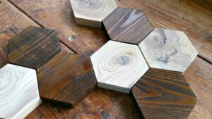 DIY SOLID WOOD HEX COASTERS