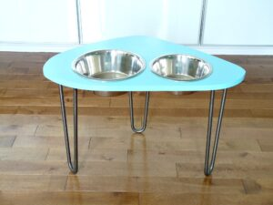 MID-CENTURY MODERN ATOMIC DOG BOWL STAND DIY