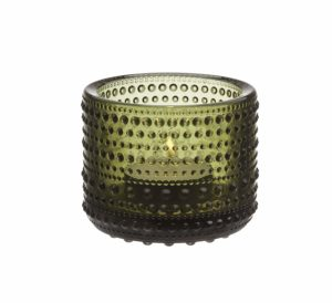 IITTALA MOSS GREEN CANDLE HOLDER