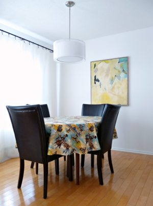 OVAL TABLECLOTH DIY TUTORIAL