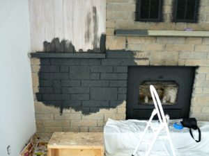 HOW TO PAINT STONE FIREPLACE