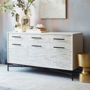 BEACHY WHITE TILED BUFFET