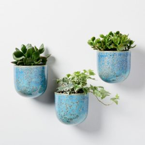 TURQUOISE WALL PLANTERS