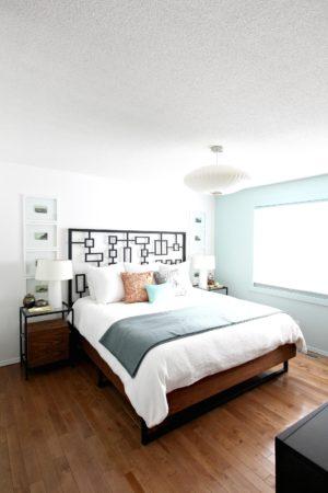 DIY WALNUT PLYWOOD BED FRAME