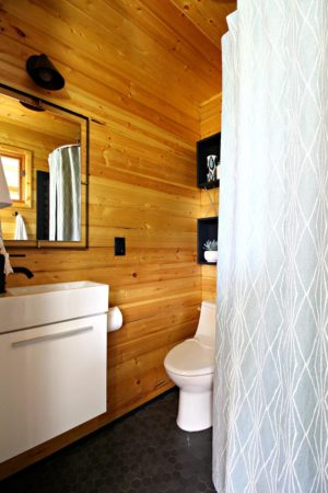BUNKIE BATHROOM RENOVATION WITH SCANDINAVIAN STYLE