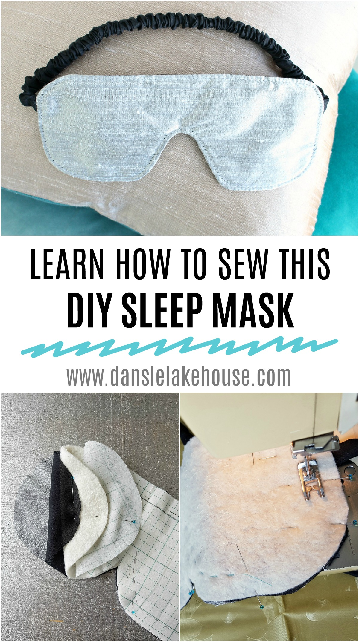 Learn How to Sew an Easy DIY Sleep Mask with Silk Fabric That's Gentle on Skin #sewing #sleepmask #sleep