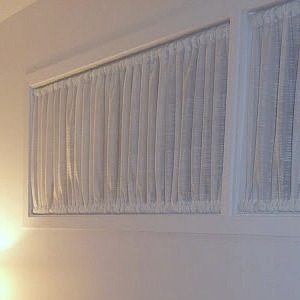DIY RUCHED CURTAINS SMALL HIGH WINDOW