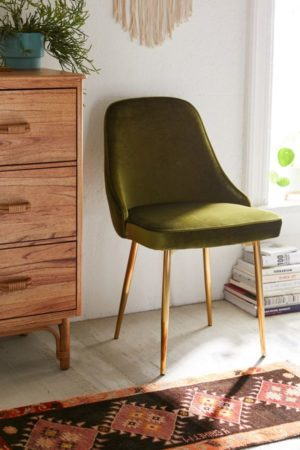 GREEN VELVET MCM DINING CHAIRS