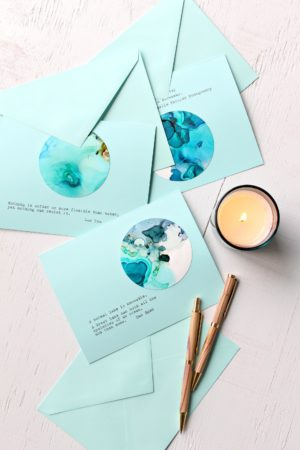 ALCOHOL INK NOTE CARDS TUTORIAL