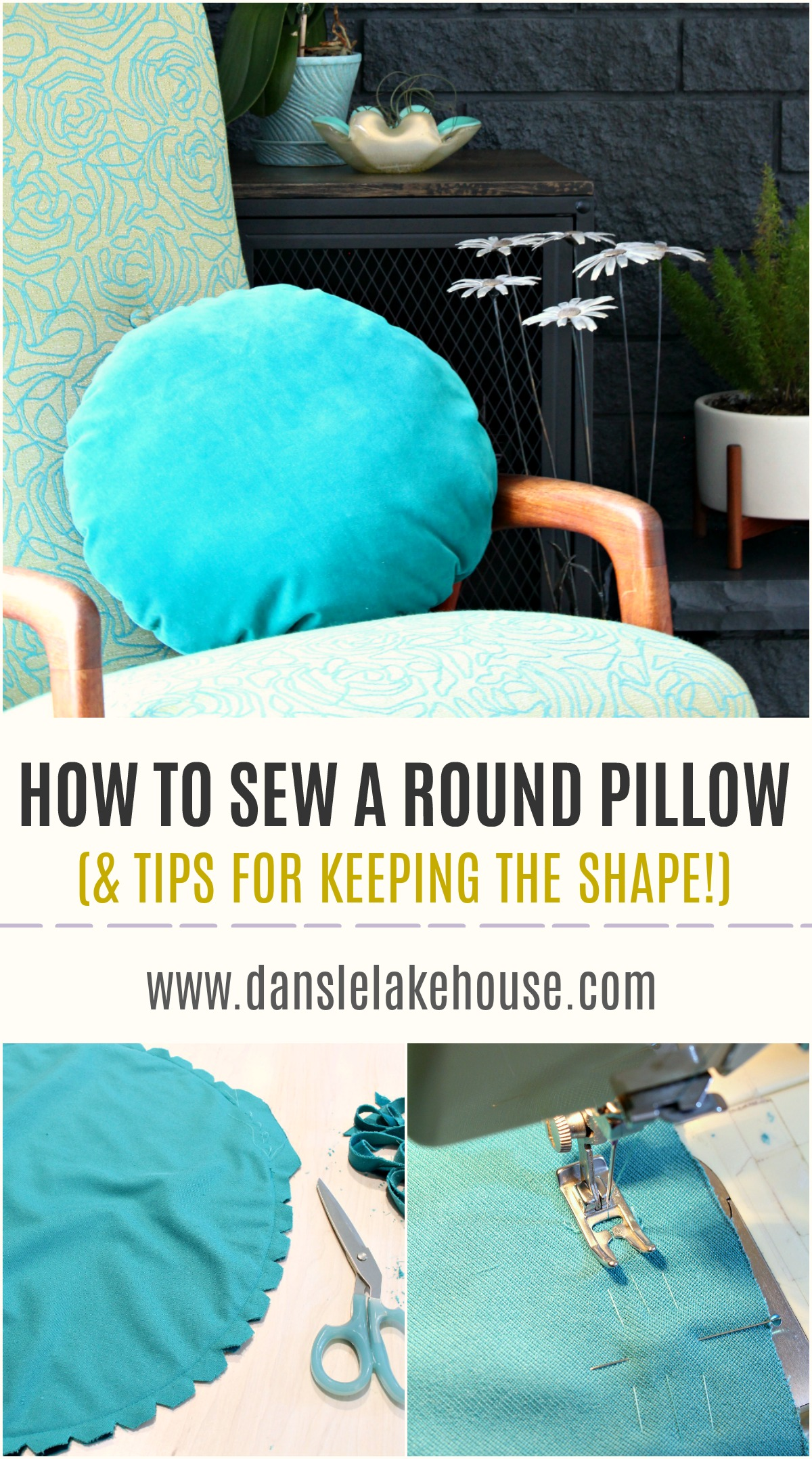 Excellent How To Sew A Round Pillow Easy Diy Throw Pillow Project Gamerscity Chair Design For Home Gamerscityorg