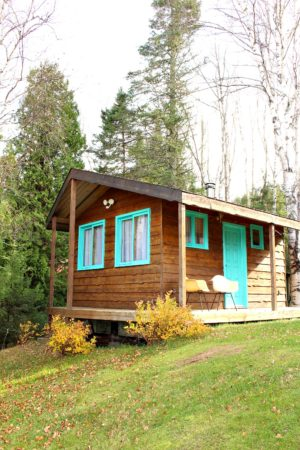 TURQUOISE TRIM AND DOOR FOR THE BUNKIE