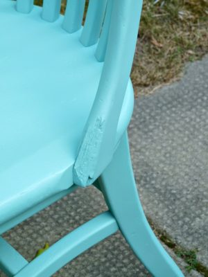 TURQUOISE CHAIR MAKEOVER