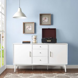 MCM STYLE WHITE CREDENZA BUFFET