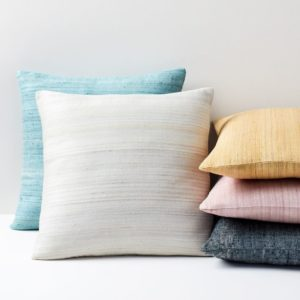 WOVEN SILK PILLOWS