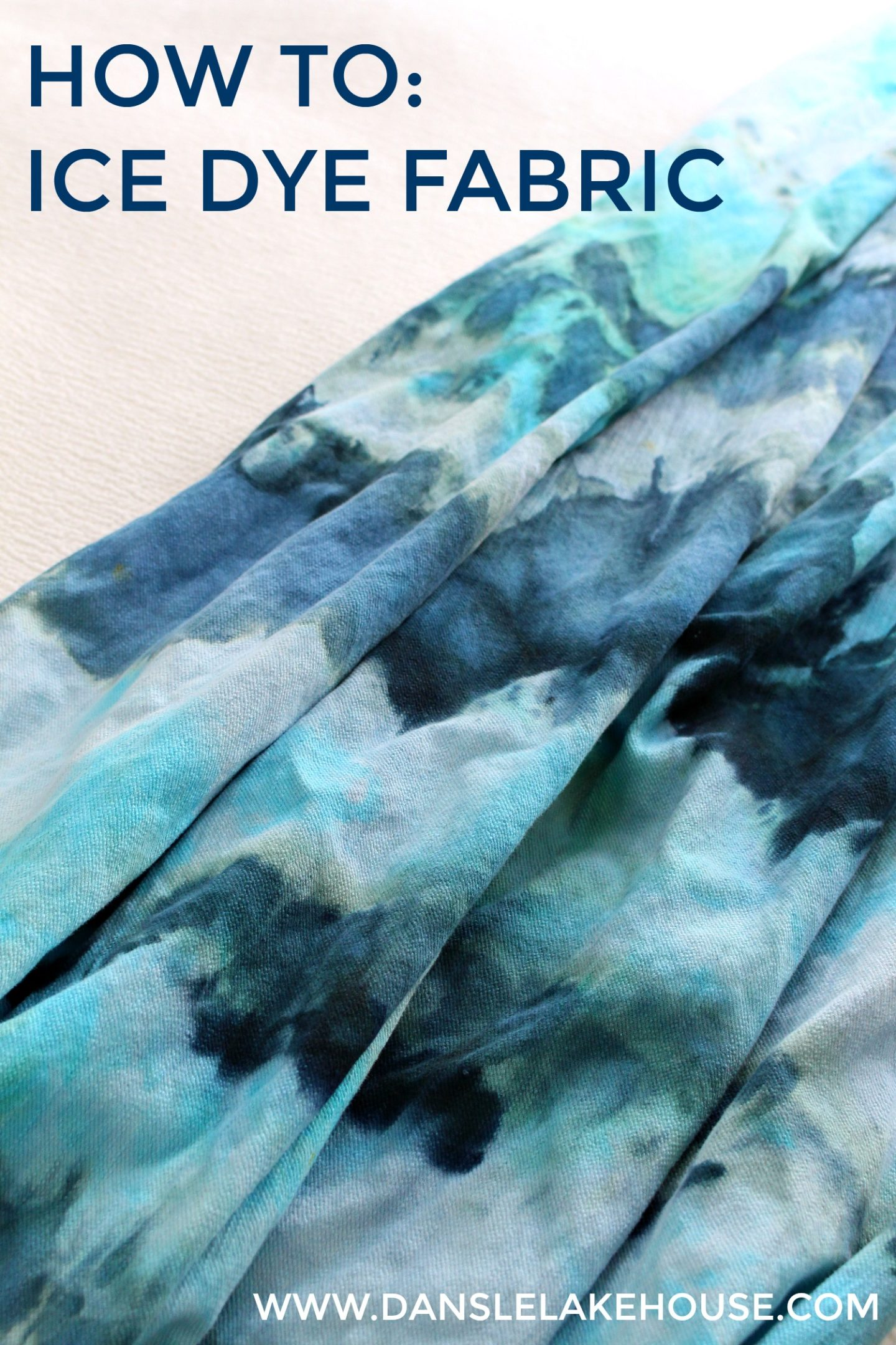 How to Ice Dye Fabric: A Tutorial with Troubleshooting, Tips and Links to Other Ice Dye Projects #handdyedfabric #icedye #tiedye