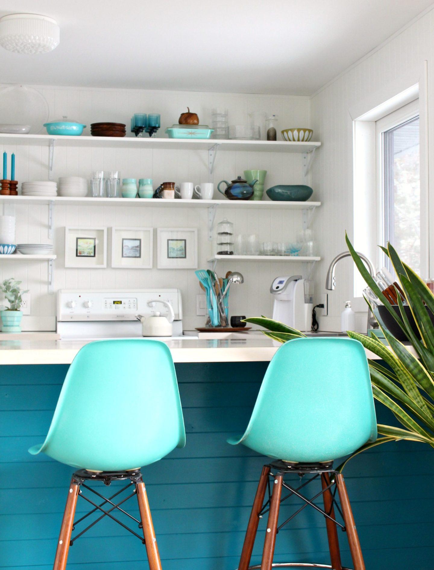 Modern Paneling Idea: Add to Kitchen Cabinet Backs