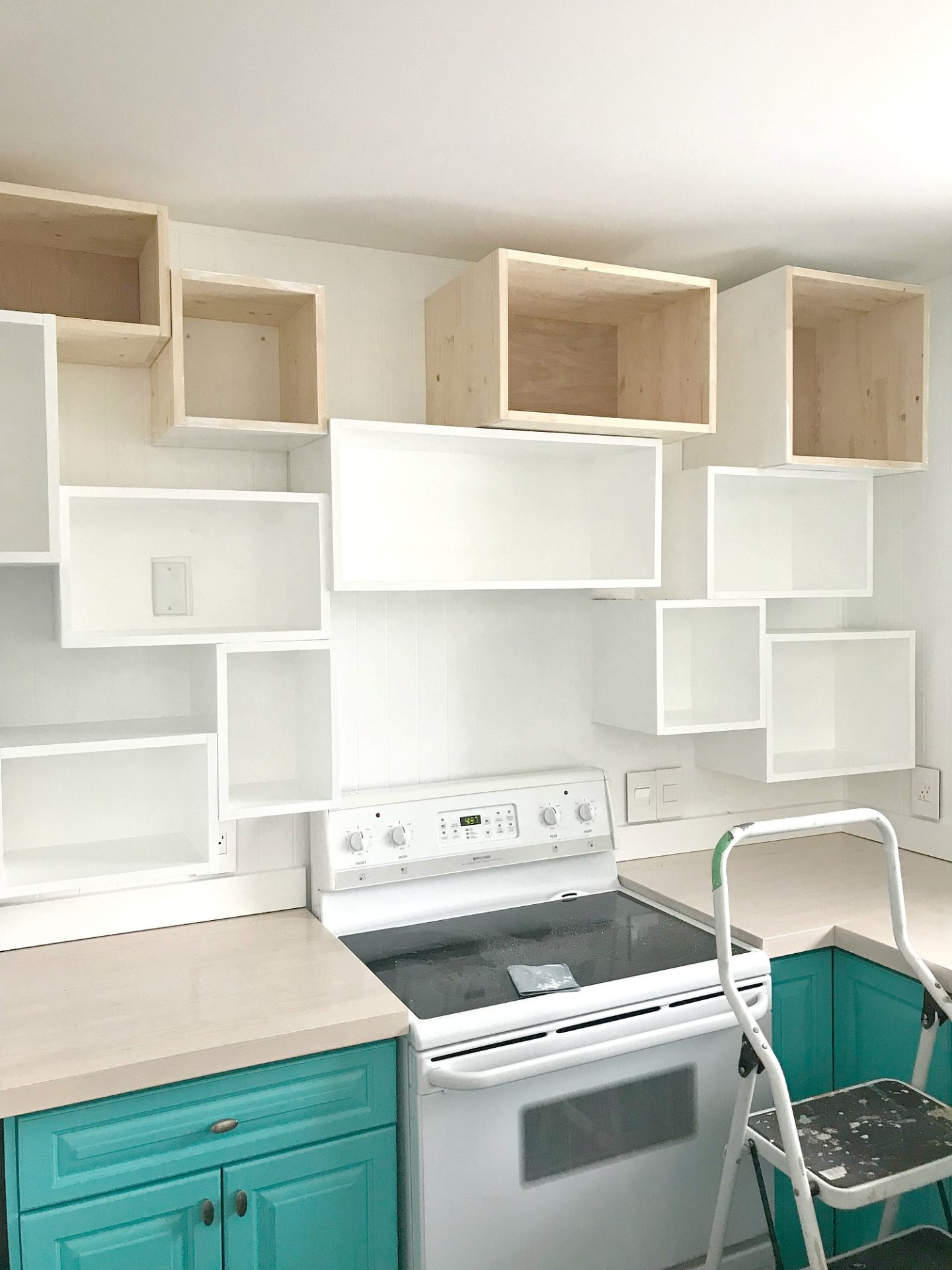 How to install kitchen wall cubbies for cute open shelving ideas
