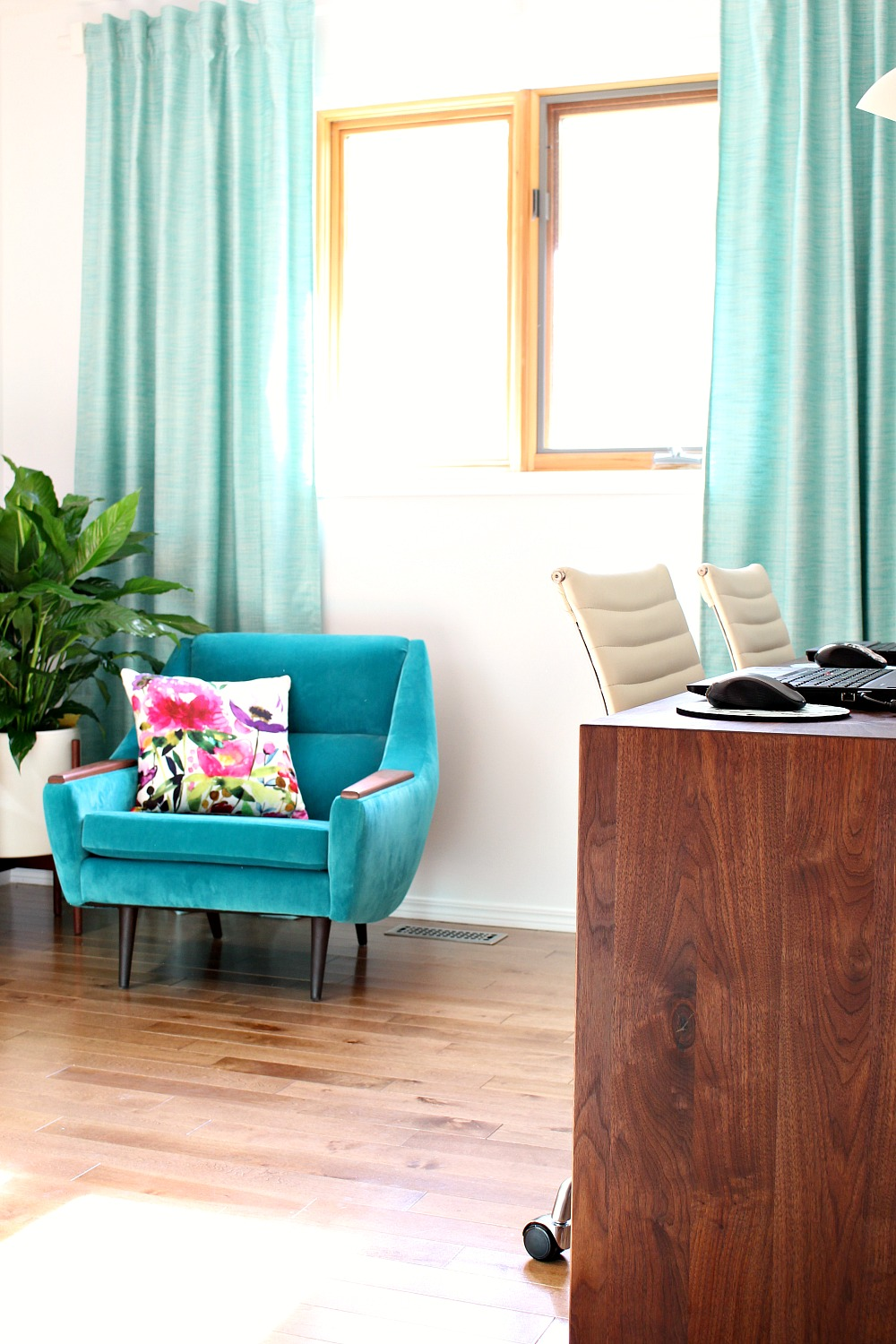 Turquoise Drapes DIY