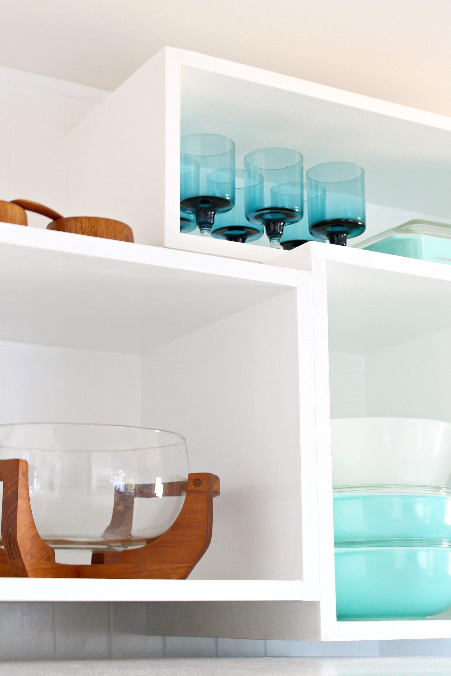 How to Build Wall Cubbies   Fresh Take on Kitchen Open Shelving #vintagekitchen #openshelving #budgetdiy #diyhomedecor