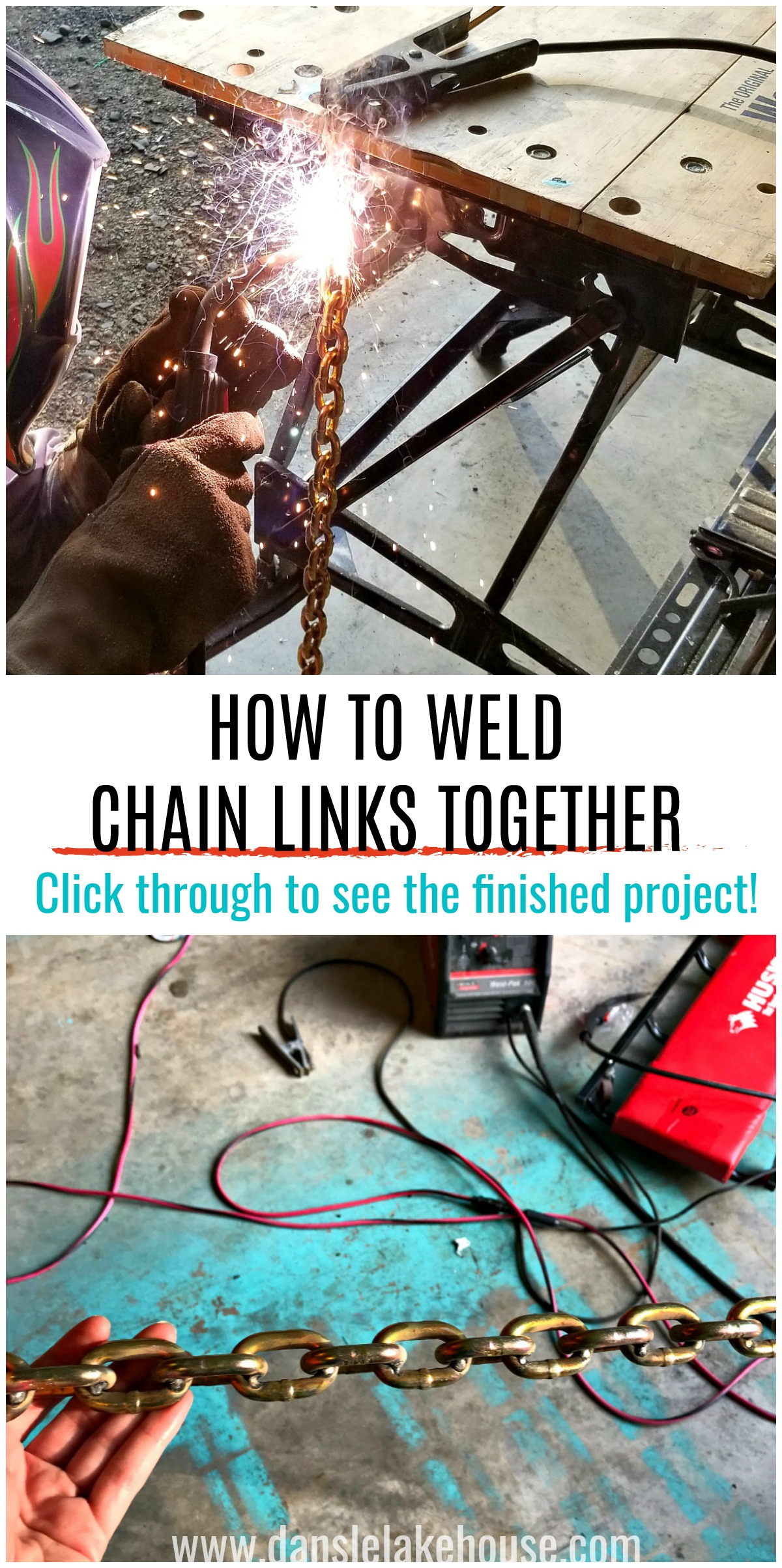 How to weld chain links together