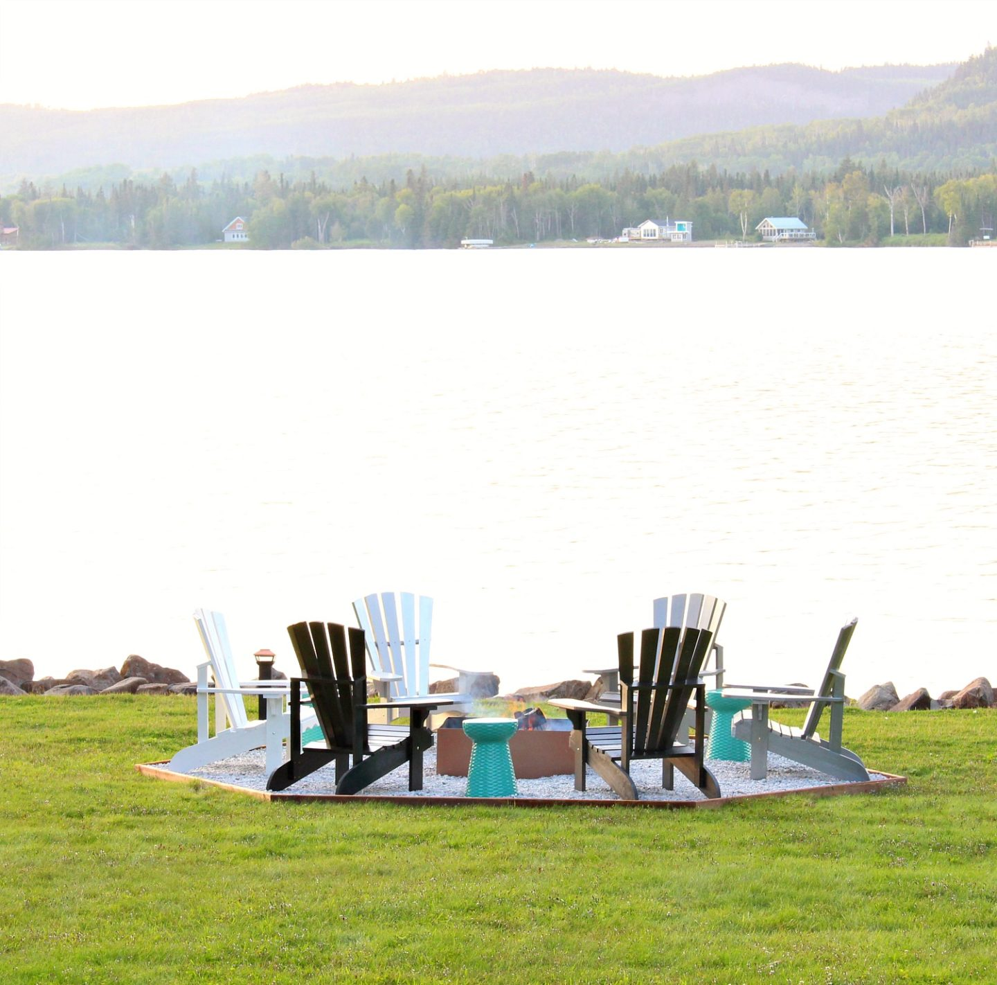 Fire Pit Makeover + DIY Ombre Adirondack Chairs (Sponsored by The Home Depot Canada)