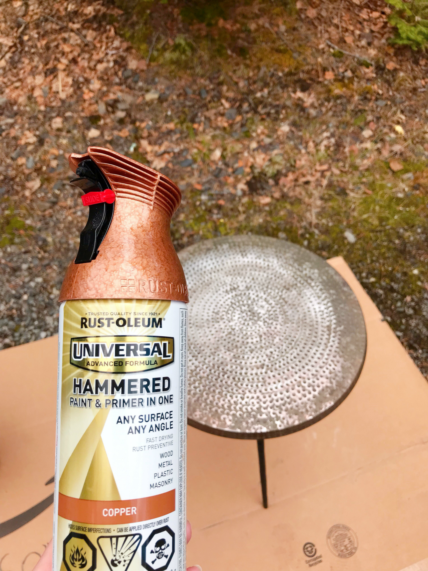 Rust-Oleum Hammered Copper Spray Paint Color