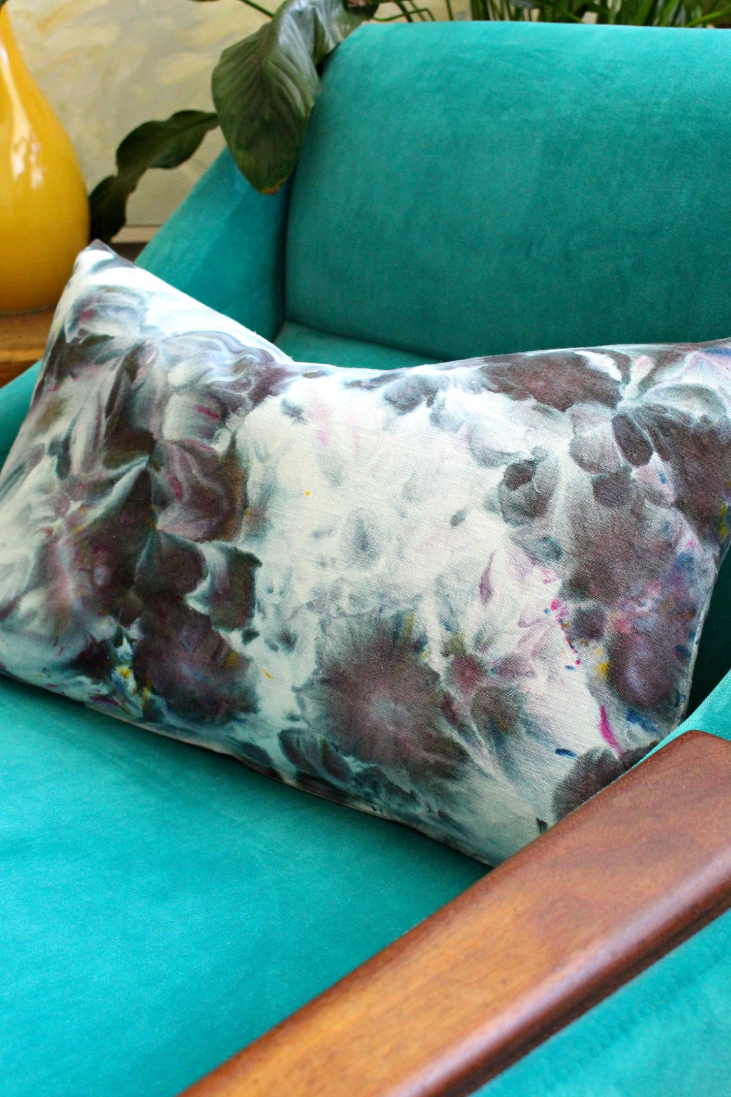 Purple Hand Dyed Fabric