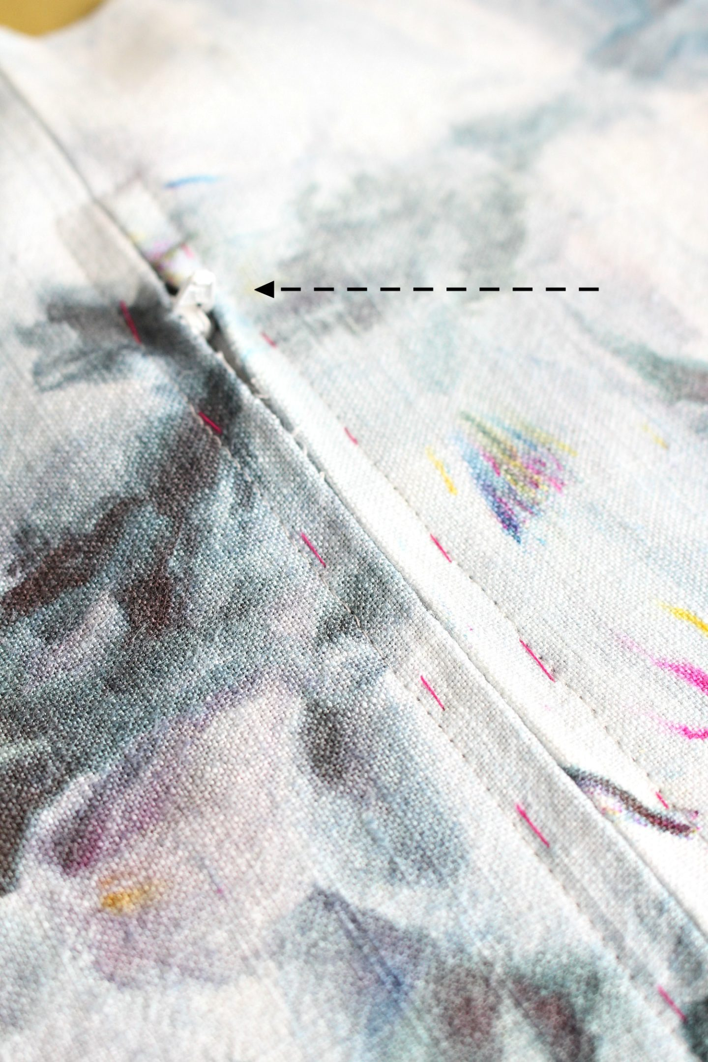 learn how to sew a throw pillow with zipper
