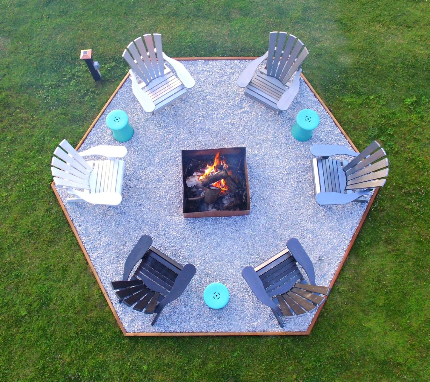 Contemporary Fire Pit Makeover + DIY Ombre Adirondack Chairs (Sponsored by The Home Depot Canada)