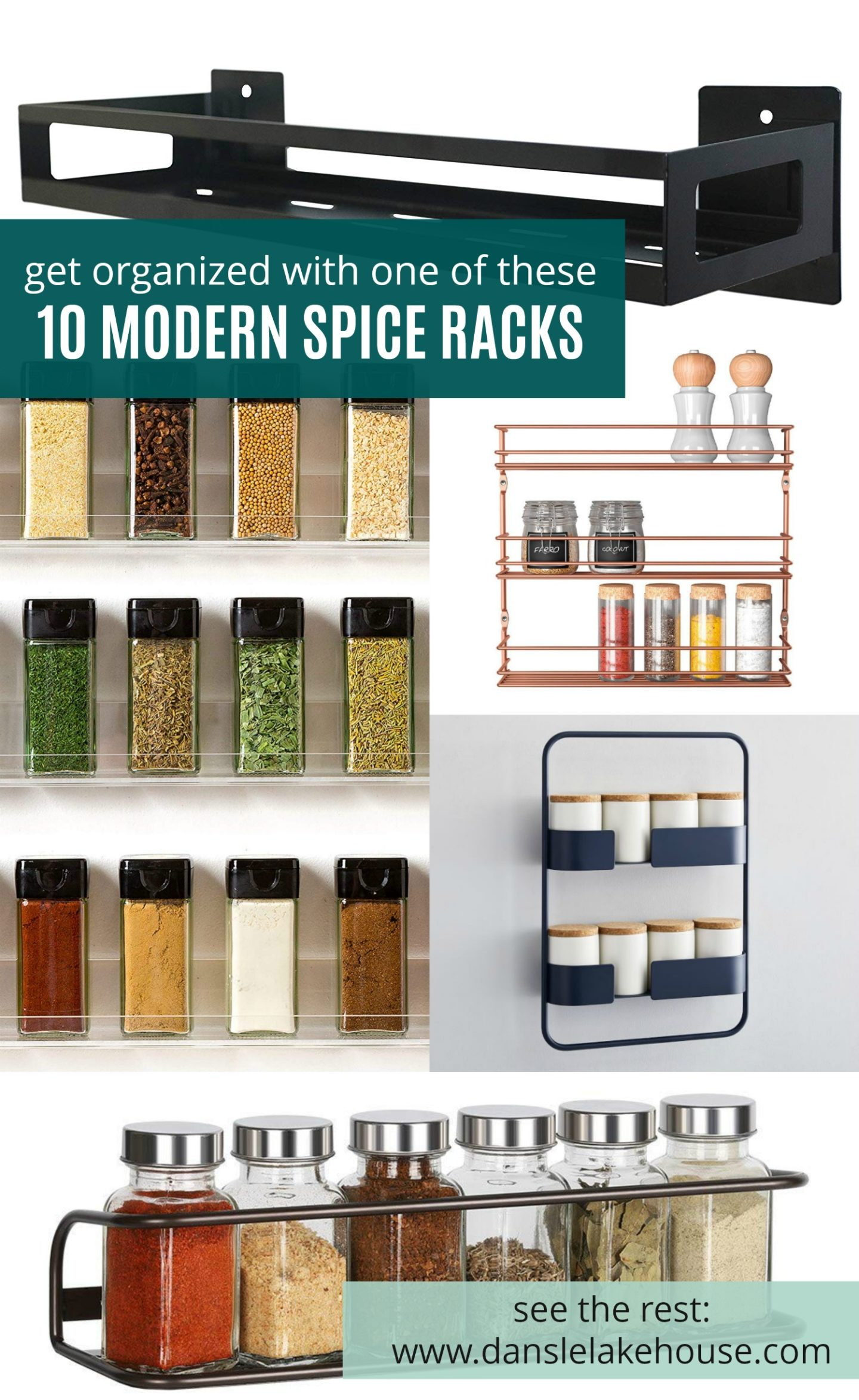 Modern Spice Rack Hack + 10 Modern Spice Storage Options