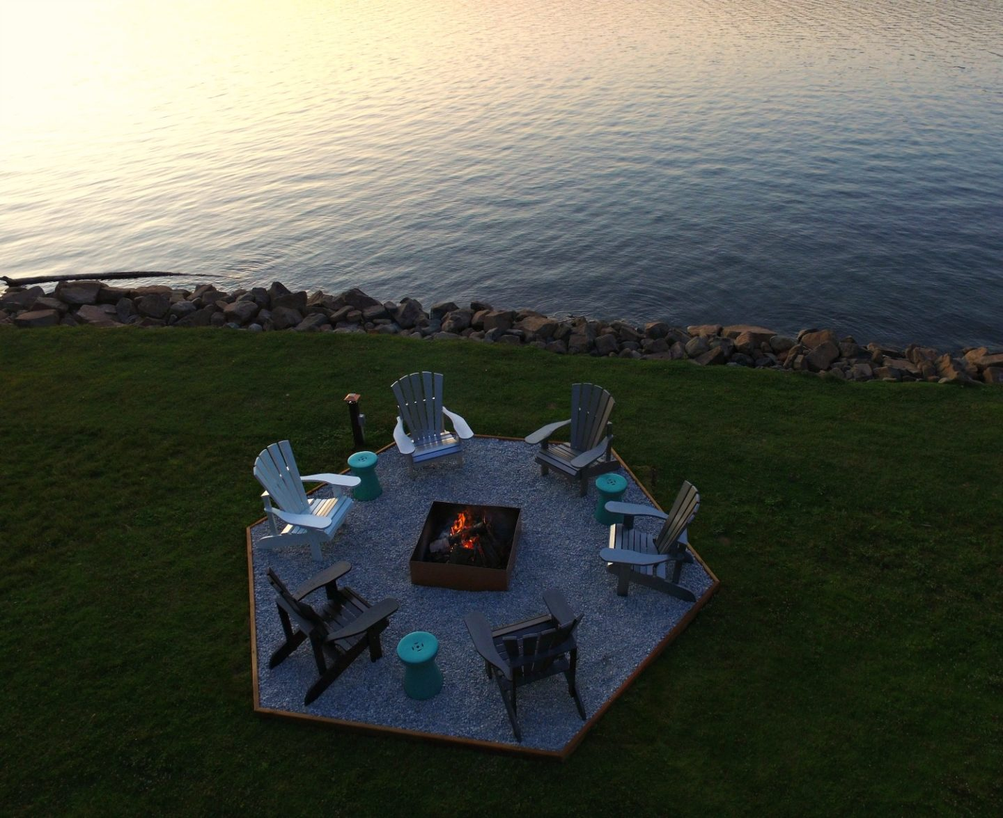 Easy Fire Pit Makeover + DIY Ombre Adirondack Chairs (Sponsored by The Home Depot Canada)