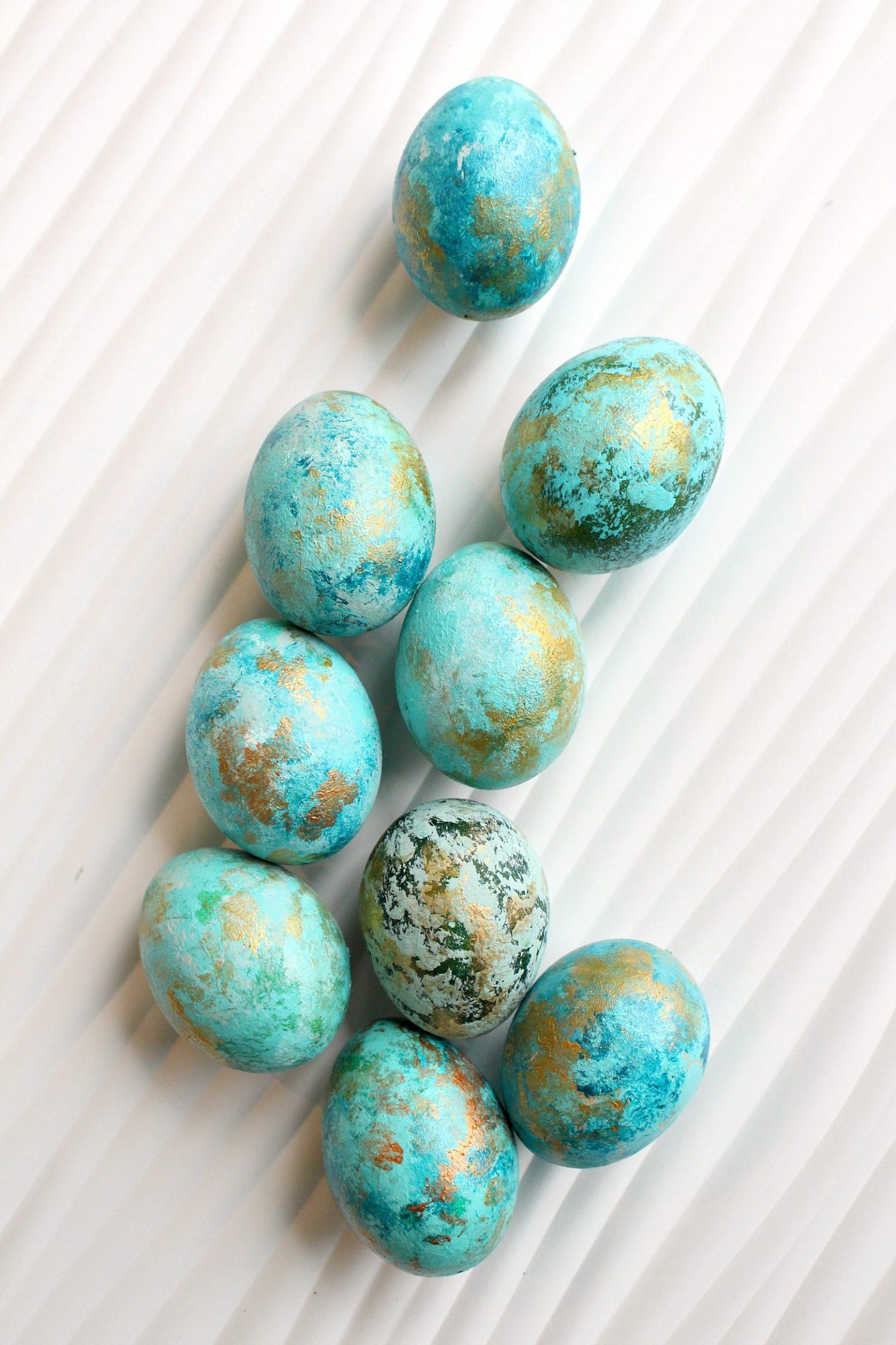 Painted Easter Eggs Look Like Gemstones