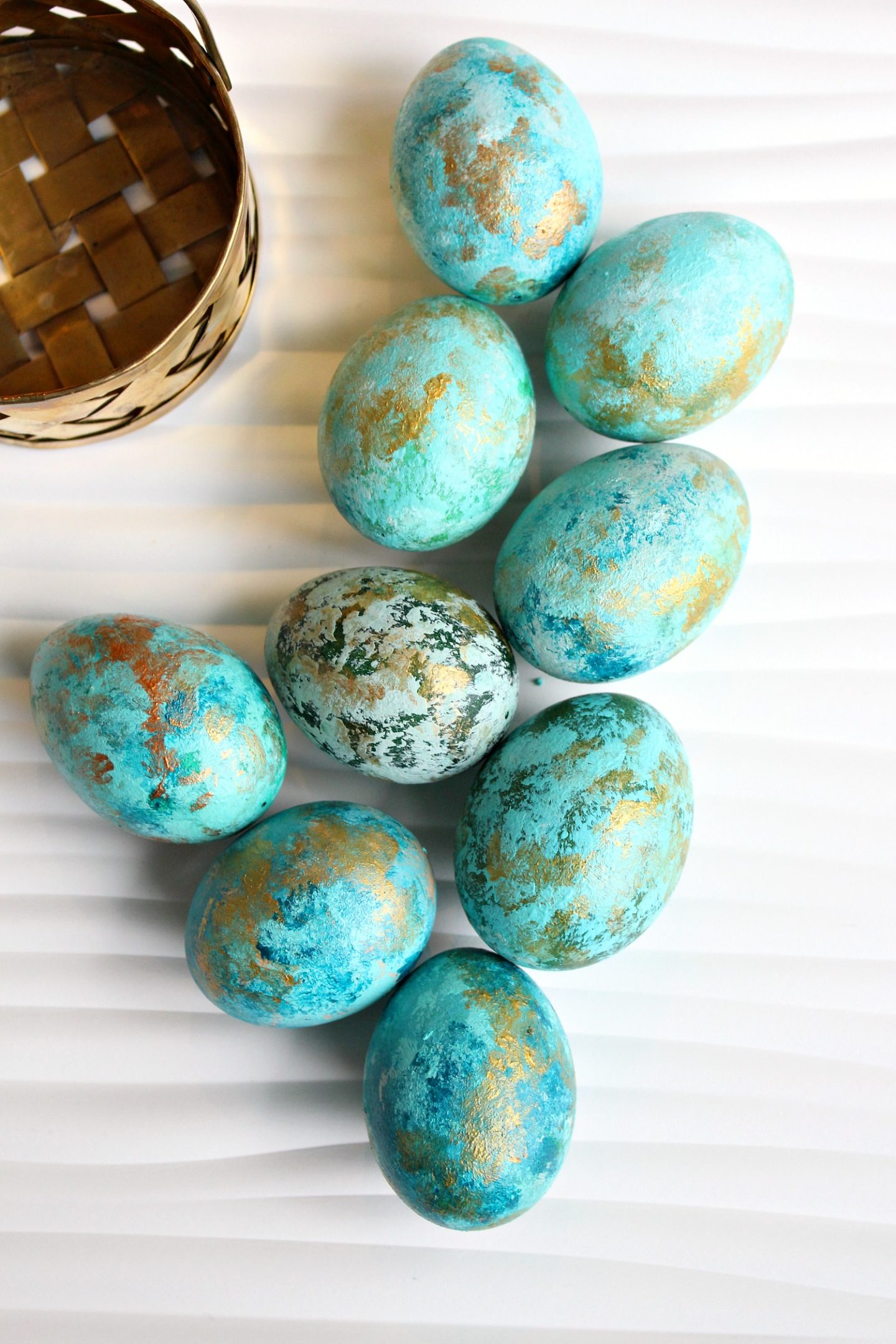 Turquoise Painted Easter Eggs