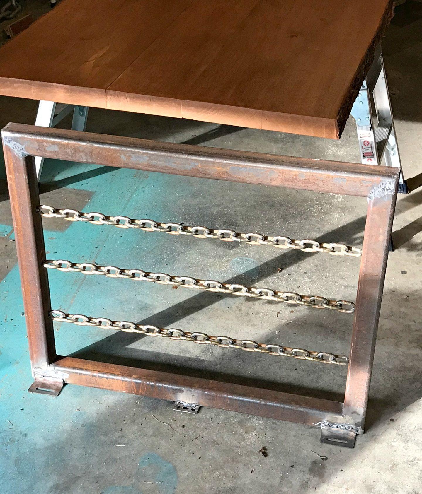 DIY Welded Chain Table Legs Tutorial