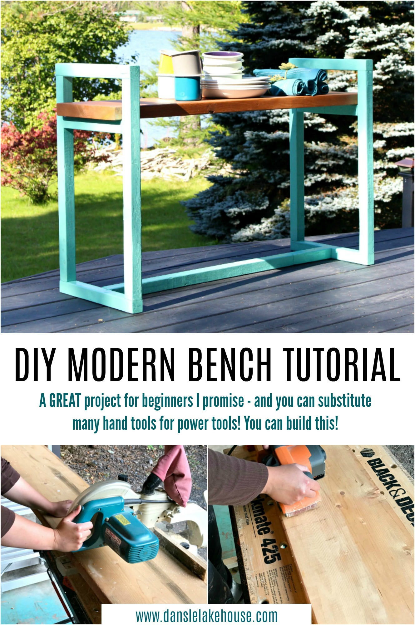 Easy DIY Modern Bench Tutorial