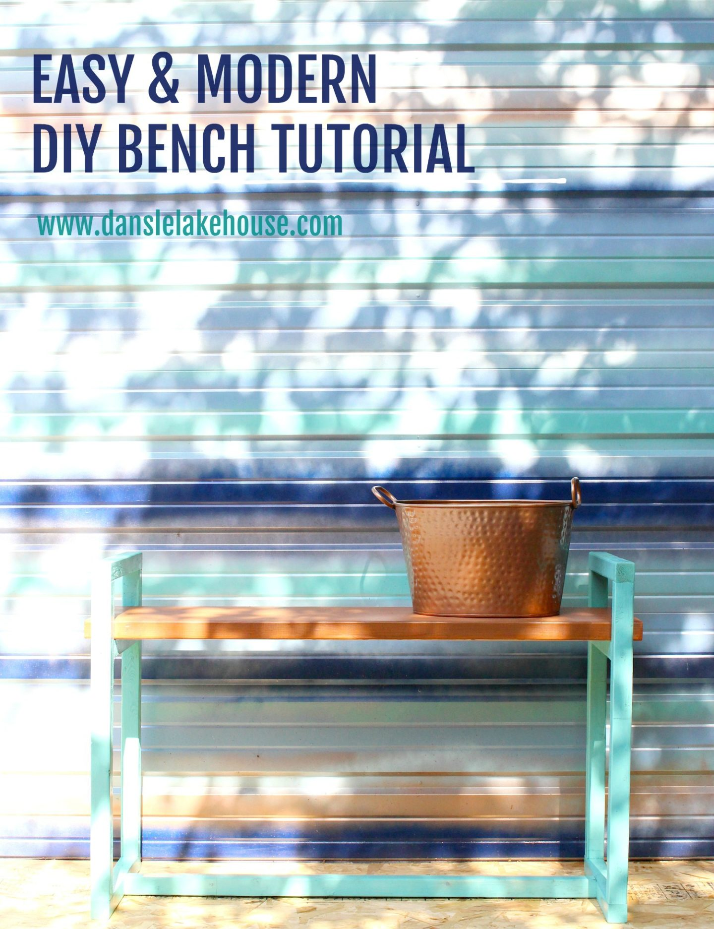 Easy & Modern DIY Bench Tutorial