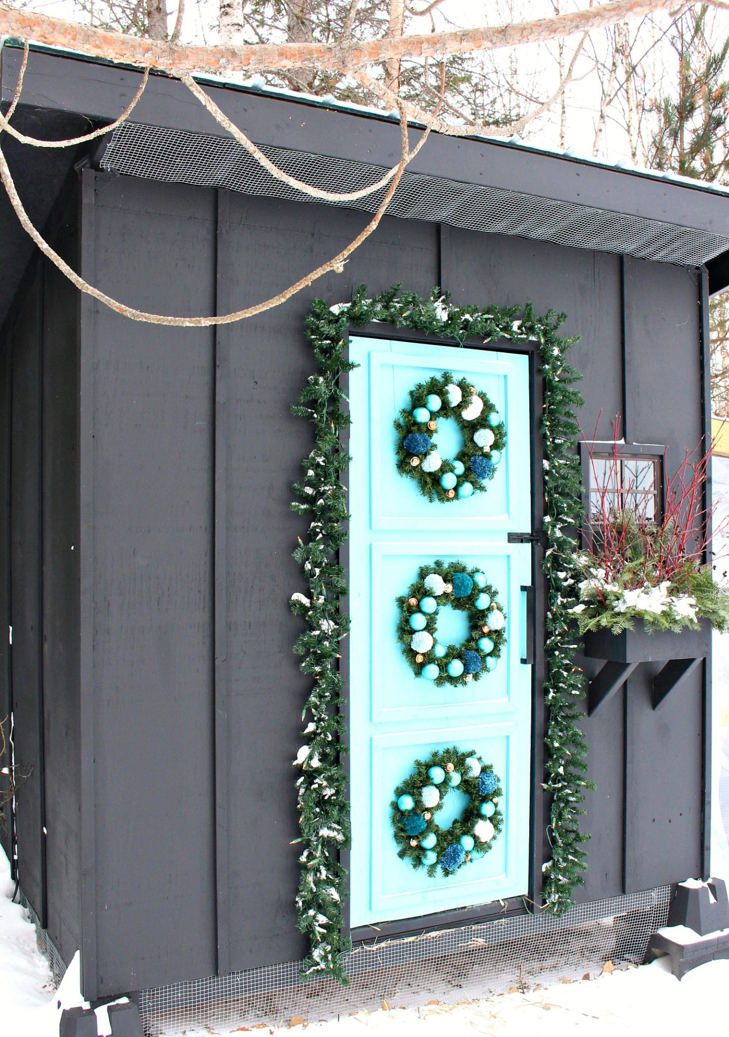 Christmas Coop Decor Winter Window Box Ideas