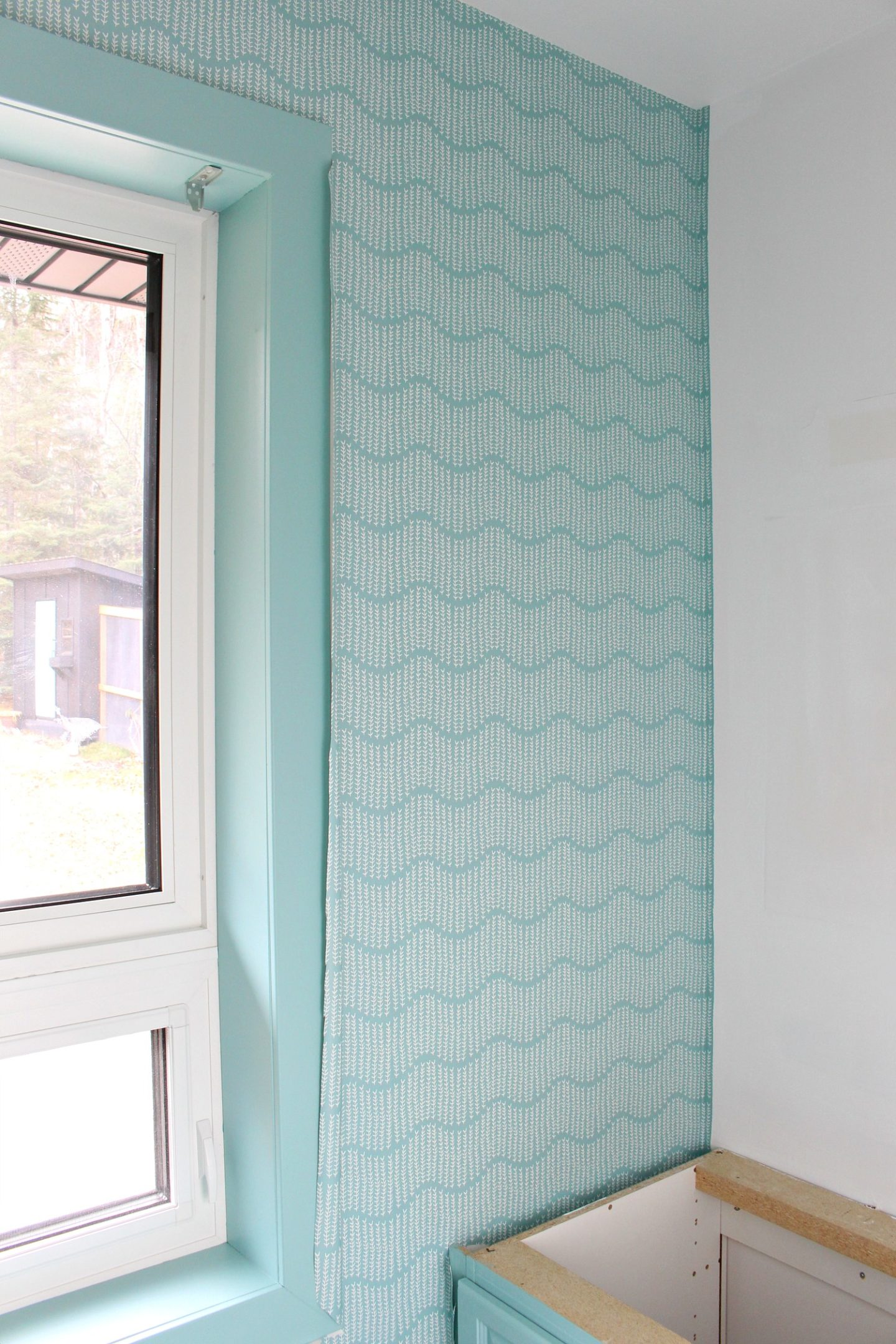 DIY Wallpapering for the First Time | Spoonflower Prepasted Removable Wallpaper Review