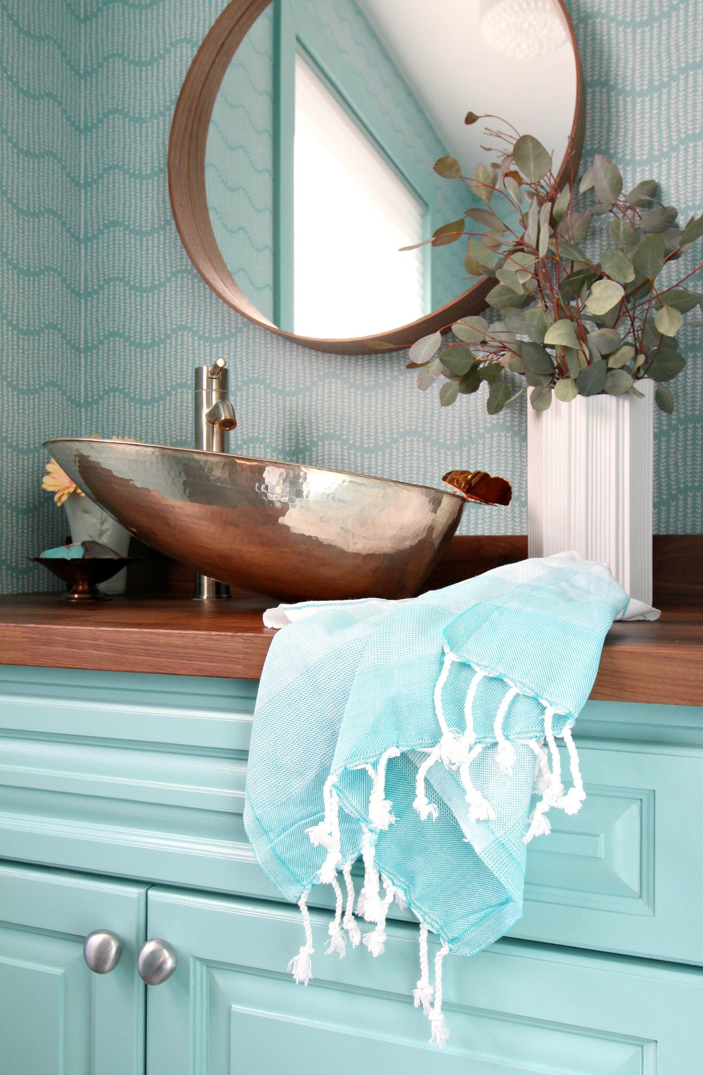 Turquoise Turkish Hand Towels