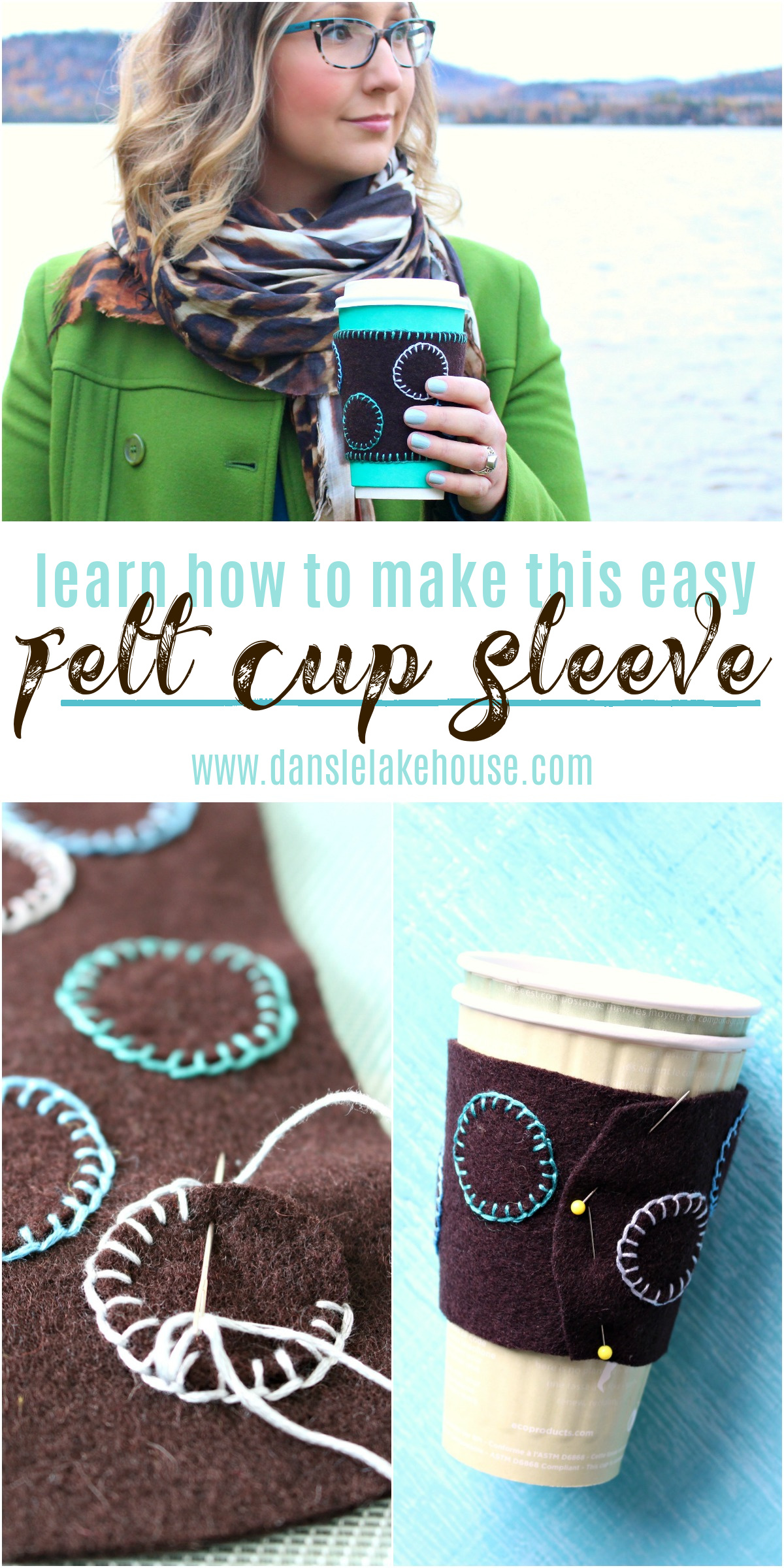 DIY Felt Cup Sleeve Tutorial