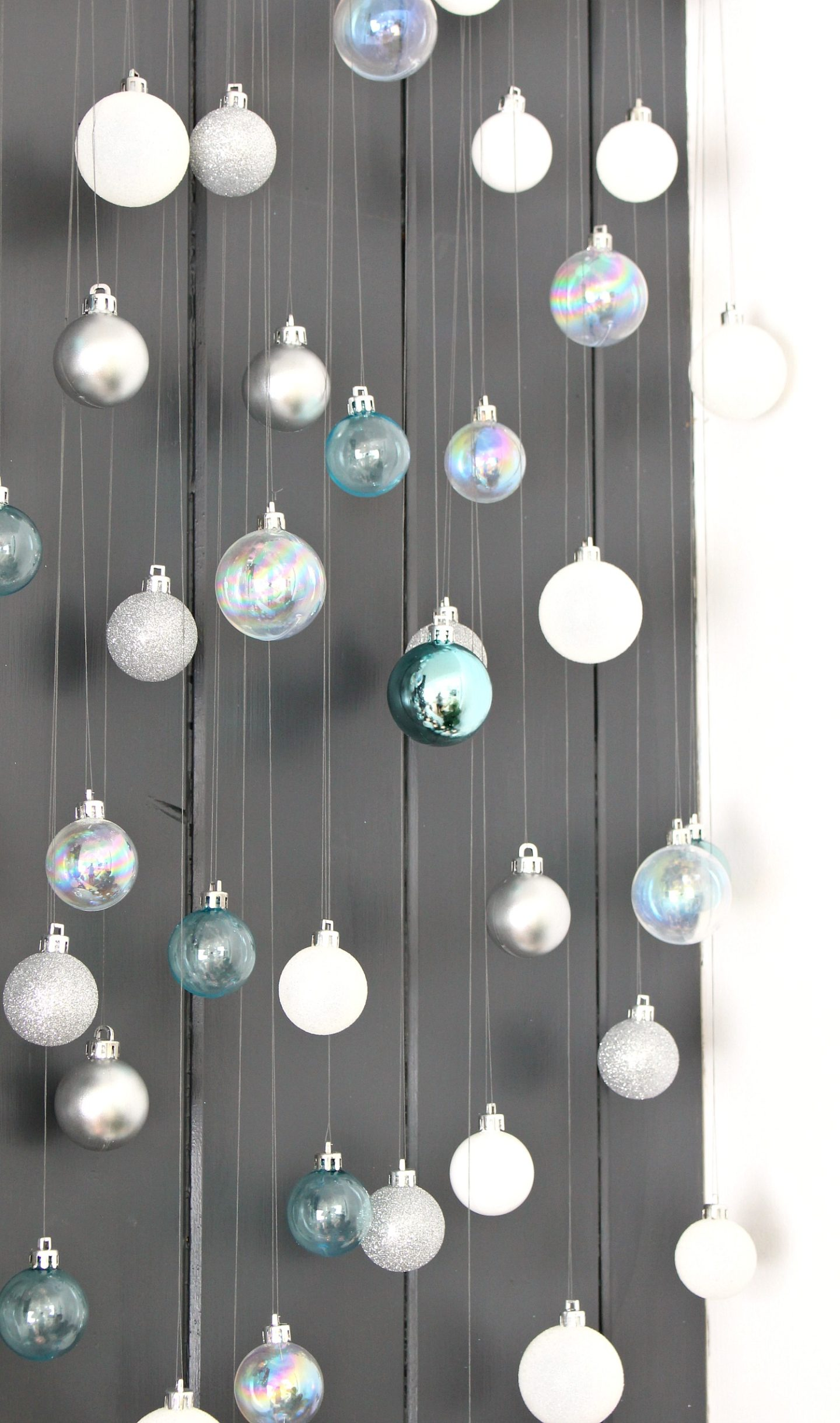 Ornament Display Idea: DIY Cascading Ornaments